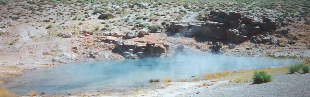 Hot Spring near the town of Mammoth Lakes, California.